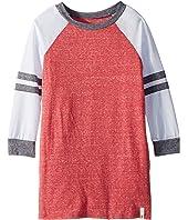 Long Sleeve Color Block Knit Dress (Big Kids)