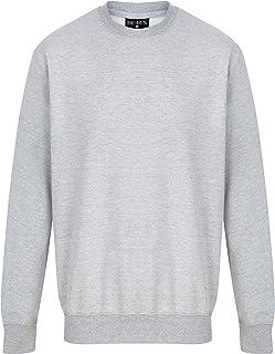 Kratos Attire New Men Women Unisex Plain Round Neck Sweatshirt