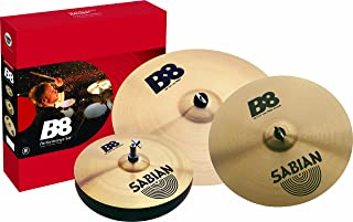 Sabian 45003 B8 Series Performance Set (14-Inch Hats, 16-Inch Crash, 20-Inch Ride) Cymbals