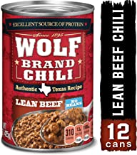WOLF BRAND Lean Beef Chili Without Beans, 15 oz. (Pack of 12)