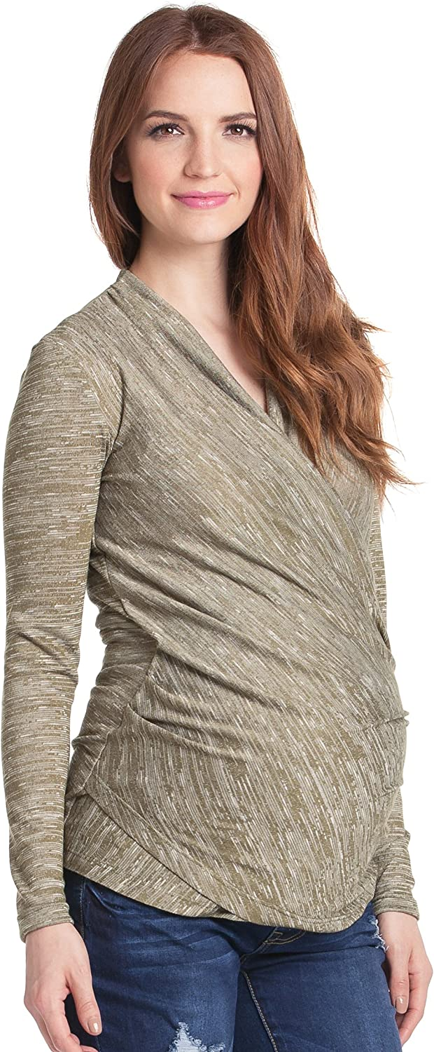 purplec Clothing Women's Credver Maternity and Nursing Top