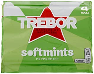 Trebor Softmints Peppermint Mints, 4 x 44.9g