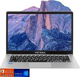 VETESA 2020年春夏モデルVT-Pro14ノートパソコン 外付けDVD付き/日本語キーボード 14.1インチ 初期設定不要Microsoft Office 2019 / Windows 10 /高性能インテルCPU N3060搭載 / WIFI / USB3.0 / HDMI / WEBカメラ/ SSD180GB / メモリ4GB /日本語説明書/1年間メーカー保証付き  (SSD:180)