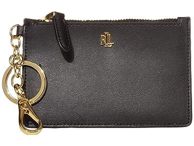 LAUREN Ralph Lauren Zip Card Case (Black) Wallet Handbags