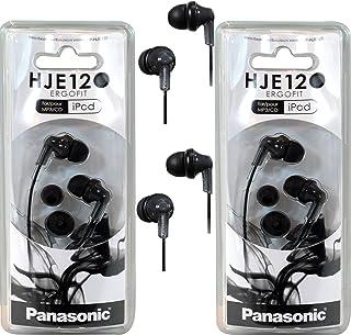 Panasonic RPHJE120 in-Ear Headphone, (2 Pack, Black)