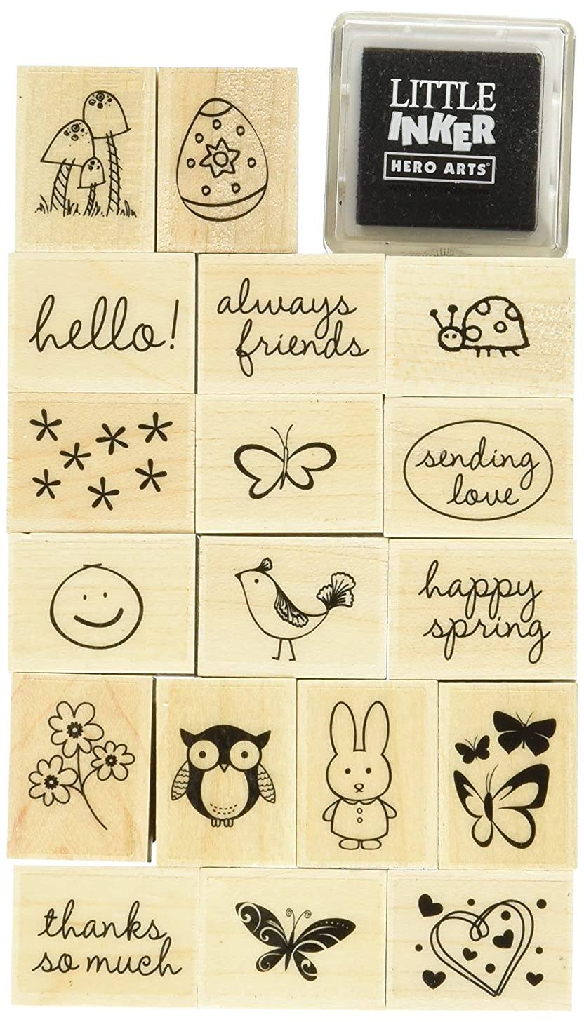Hero Arts Spring Messages Woodblock Stamp Set