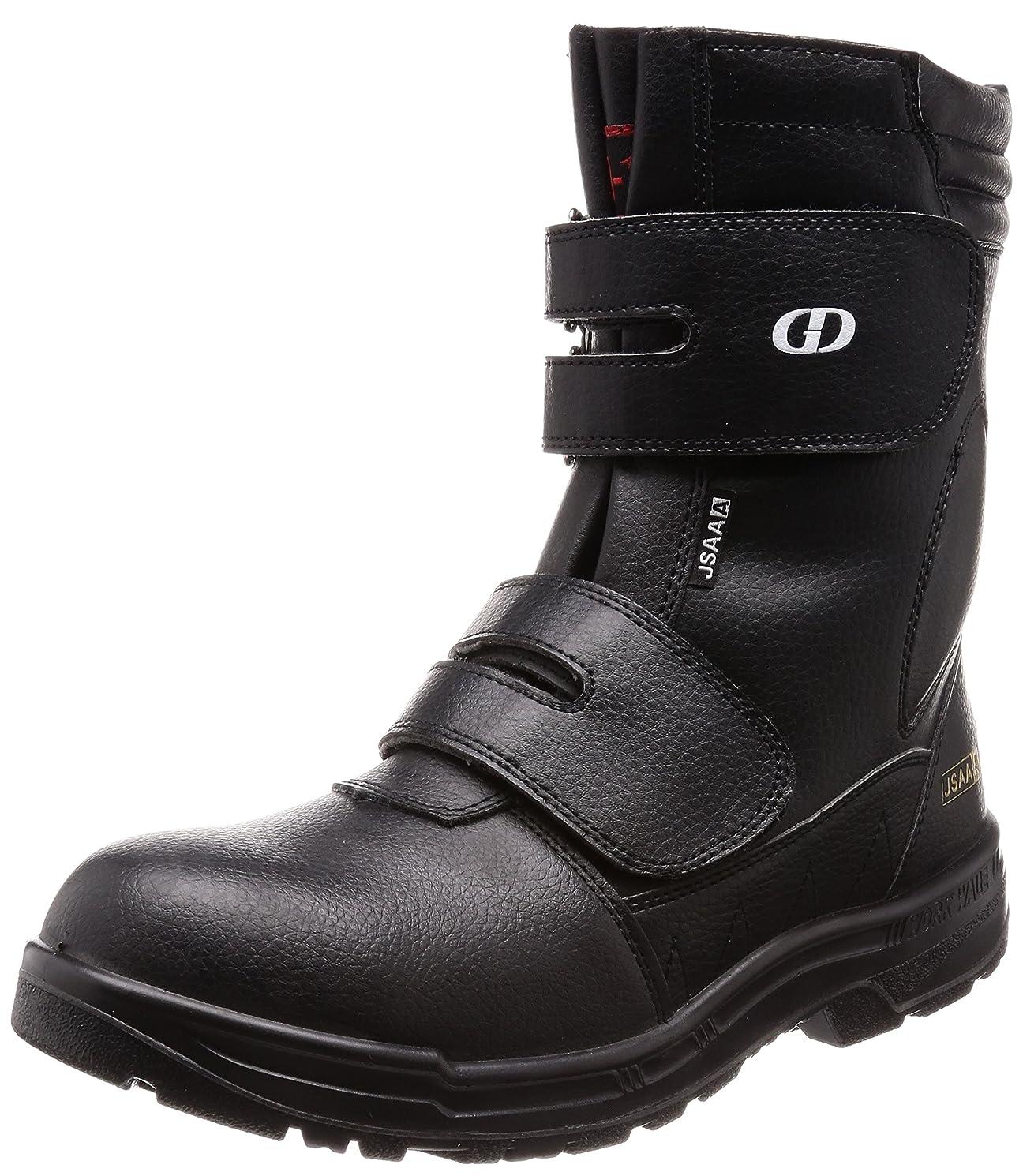 居住者誰落胆した[ジーデージャパン] JSAA A種認定 半長靴 先芯部本革 後方反射材 耐油底 くるぶしパッド付き 4E GD-10