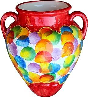 Cactus Canyon Ceramics Spanish Hand-Painted Wall Tinaja Flower Pot, Bubbles!