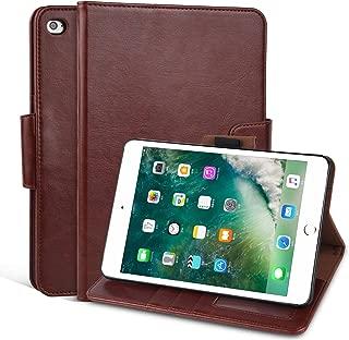 ipad Mini 4 Case, Arae ipad Mini 4 Wallet case,Flip Folio [Kickstand Feature] PU Leather Wallet case Cover with auto Sleep/Awake Function for New ipad Mini 2015 (Brown)