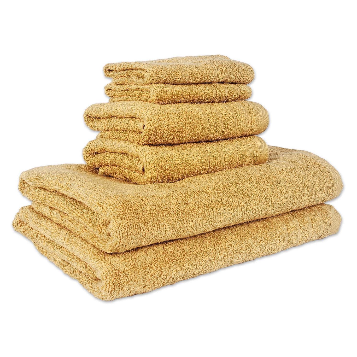 アクセサリーの慈悲で撤回するRegal Textiles Aire Lite Lux 6枚セット( 2-bath、2-hand、2-wash ) ゴールド 90-3158-464