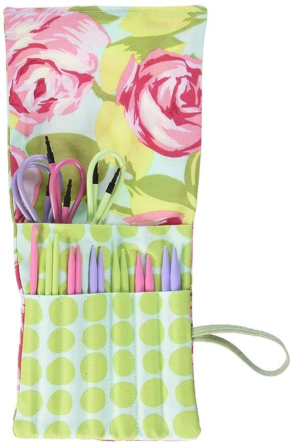 Denise Needles 2go Interchangeable Knitting Tools Set, Pink Roses