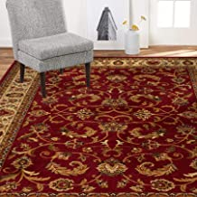 "Home Dynamix Royalty Elati Traditional Area Rug 7'8""x10'4"", Oriental Red/Ivory"