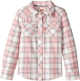 The Western Long Sleeve Plaid Top (Toddler)