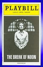 The Break of Noon, Off-Broadway playbill + David Duchovny, Amanda Peet, John Earl Jelks, Tracee Chimo