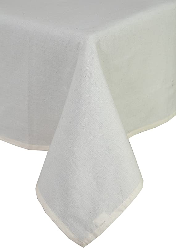 Linen Clubs 100 Cotton Machine Washable Everyday Kitchen Tablecloth For Dinner Parties Summer Outdoor Picnics 52x72 Color Beige Set Of 2 Pieces