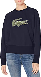 Womens Long Sleeve All Over Croc Brush Fleece Sweatshirt