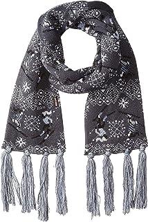 MUK LUKS womens Women's Traditional Tassel Scarf Winter Accessory Set