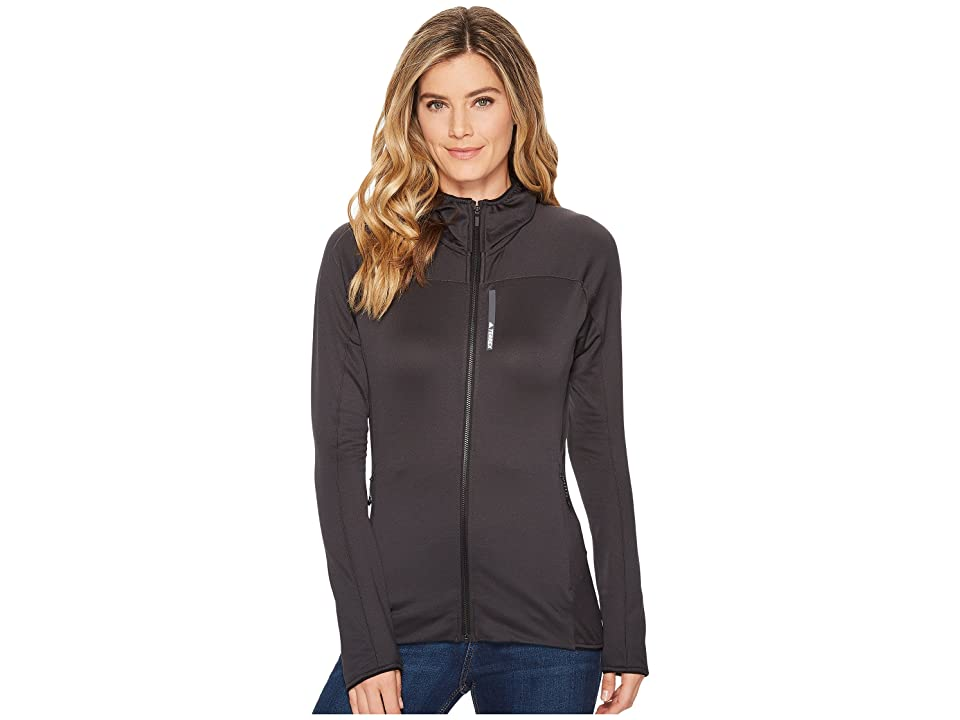 adidas Outdoor Terrex Stockhorn Fleece Hoodie (Carbon) Women