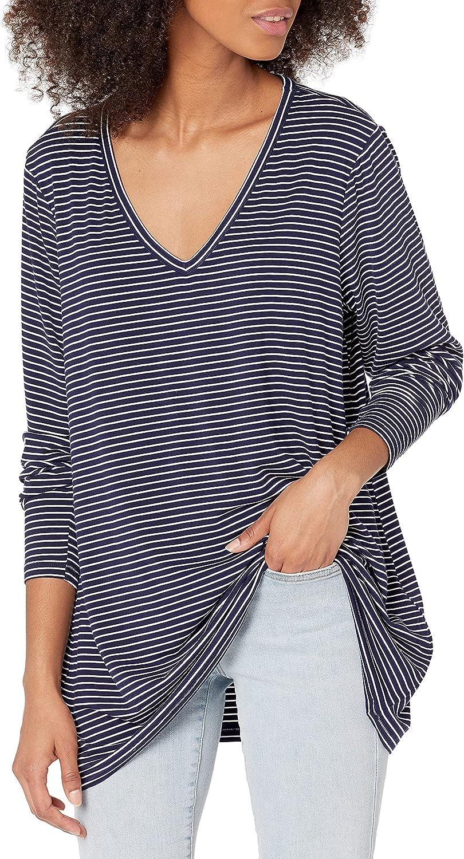Amazon Brand - Daily Ritual Women's Plus Size Jersey Long-Sleeve V-Neck T-Shirt