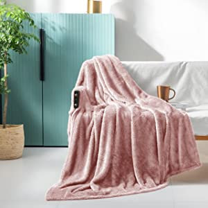 Exclusivo Mezcla Plush Fuzzy Large Fleece Throw Blanket ( 50
