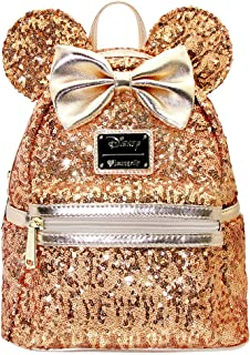 X DISNEY Yellow Gold Sequin Minnie Mini Backpack Holiday Gifts for Her LIMITED EDITION