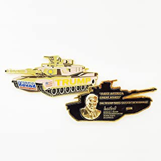 AIIZ Collectibles President Trump Coin, The Trump (M1 Abrams) Tank Cannot Be Stopped! - Make America Great Again Commander in Chief Challenge Coin
