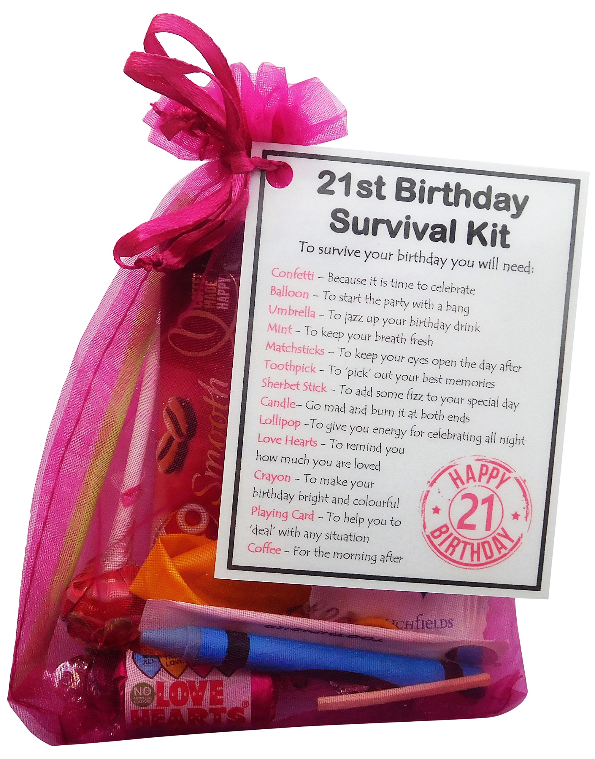 SMILE GIFTS UK 21st Birthday Gift - Unique Survival Kit (Hot Pink) - 21st  sc 1 st  Amazon UK & Gifts for 21st Birthday for Her: Amazon.co.uk