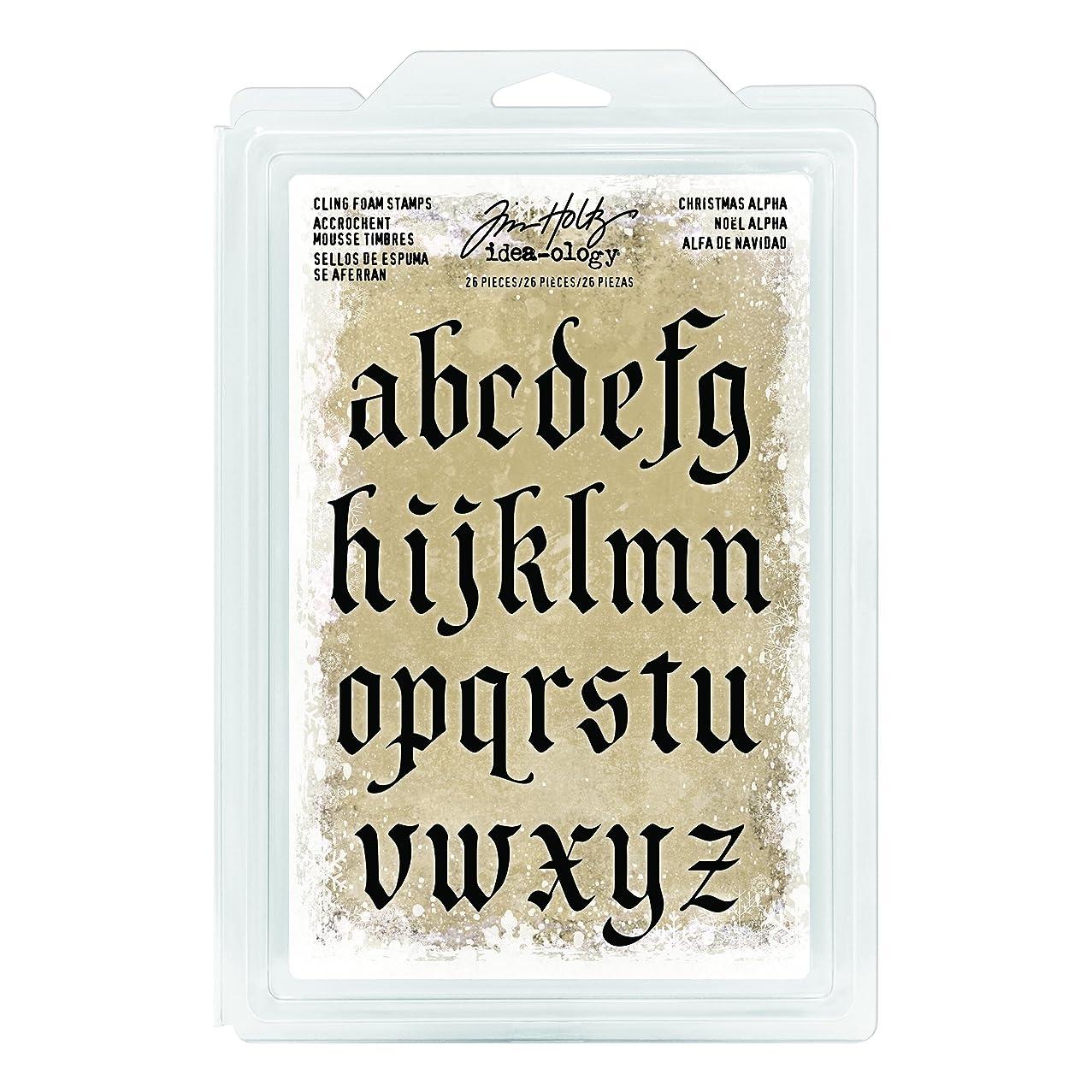 Tim Holtz TIMTH.93648 Idea-Ology Christmas Foam Stamp Alpha