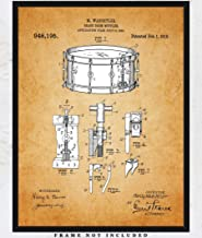 Vintage Snare Drum Patent Art Print: Unique Room Decor for Boys, Men, Girls & Women - (11x14) Unframed Picture - Great Wall Decor Gift for All Drummers and Music Lovers!