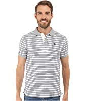 U.S. POLO ASSN. - Slim Fit Micro Shadow Stripe Polo Shirt