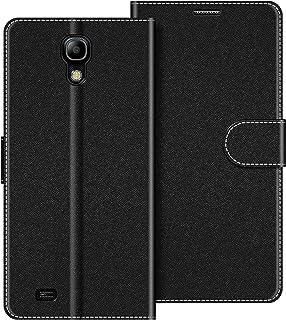 COODIO Funda Samsung Galaxy S4 Mini con Tapa, Funda Movil Samsung S4 Mini, Funda Libro Galaxy S4 Mini Carcasa Magnético Funda para Samsung Galaxy S4 Mini, Negro