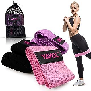 YAVOL Elastici Fitness con 3 Livelli di Allenamento   Attrezzi Esercizi Palestra in Casa per Stretching, Pilates, Riabilit...