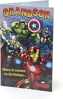 Marvel Avengers Grandson Birthday Card And Badge