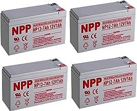 NPPower NP12-7Ah 12V 7Ah Sealed Lead Acid Battery F2 Style Terminals / (4pcs)