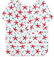 Paw Legend Long Sleeved Baby Bib - Waterproof Bib for Babies - Toddler bib (6-24 Months) with Pocket, Starfish