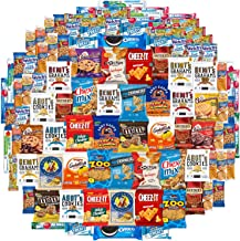 Cookies Chips & Candy Snacks Assortment Bulk Sampler by Variety Fun (Care Package 100 Count)