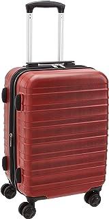 Amazon Basics Valise rigide et solide, de qualité supérieure, 56cm - Rouge