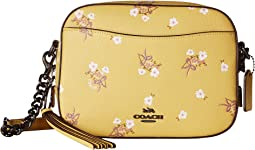 Camera Bag in Floral Printed Leather