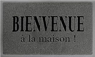 Douceur d'Intérieur Tapis Deco 1740411 Maison Tapis d'Entrée PVC Gris/Noir 75 x 45 x 75 cm