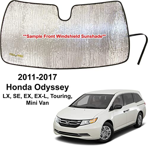 2021 YelloPro Custom Fit Automotive Reflective 2021 Front Windshield Sunshade Accessories UV Reflector high quality Sun Protection for 2011 2012 2013 2014 2015 2016 2017 Honda Odyssey LX, SE, EX, EX-L, Touring, Mini Van outlet sale