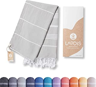 Laodis Peshtemal / Fouta / Hammam Towel | %100 Turkish Cotton | Lightweight | Quick-Dry | Perfect for Beach, Bath, Yoga, P...