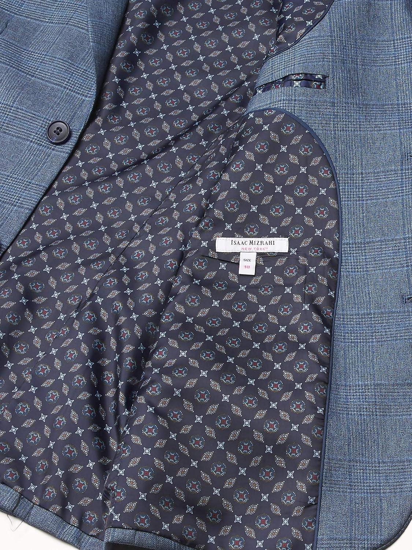 Isaac Mizrahi Boys' Slim Fit Textured Plaid Blazer