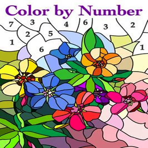 Cute Flower Coloring Art Book by Number product image