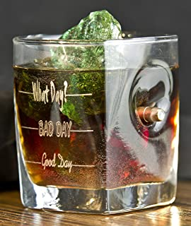 Vasos de Whisky Con Real 0.308 cal. Bullet. Grabado Good Day, Bad Day,What Day?