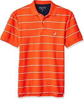 Nautica Mens Classic Short Sleeve Striped Polo T- Shirt