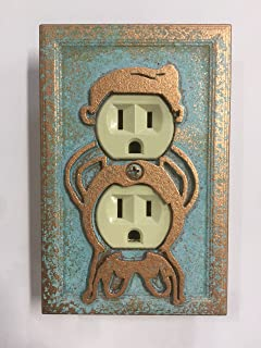 Naughty Light Switch Cover (Aged Copper)