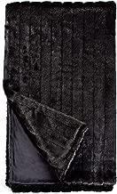 Fabulous Furs: Faux Fur Luxury Throw Blanket, Black Mink, Available in generous sizes 60