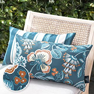 Phantoscope Pack of 2 Outdoor Indoor Throw Pillow Covers Decorative Waterproof Outdoor Pillows Patio Pillows Cushion Case ...