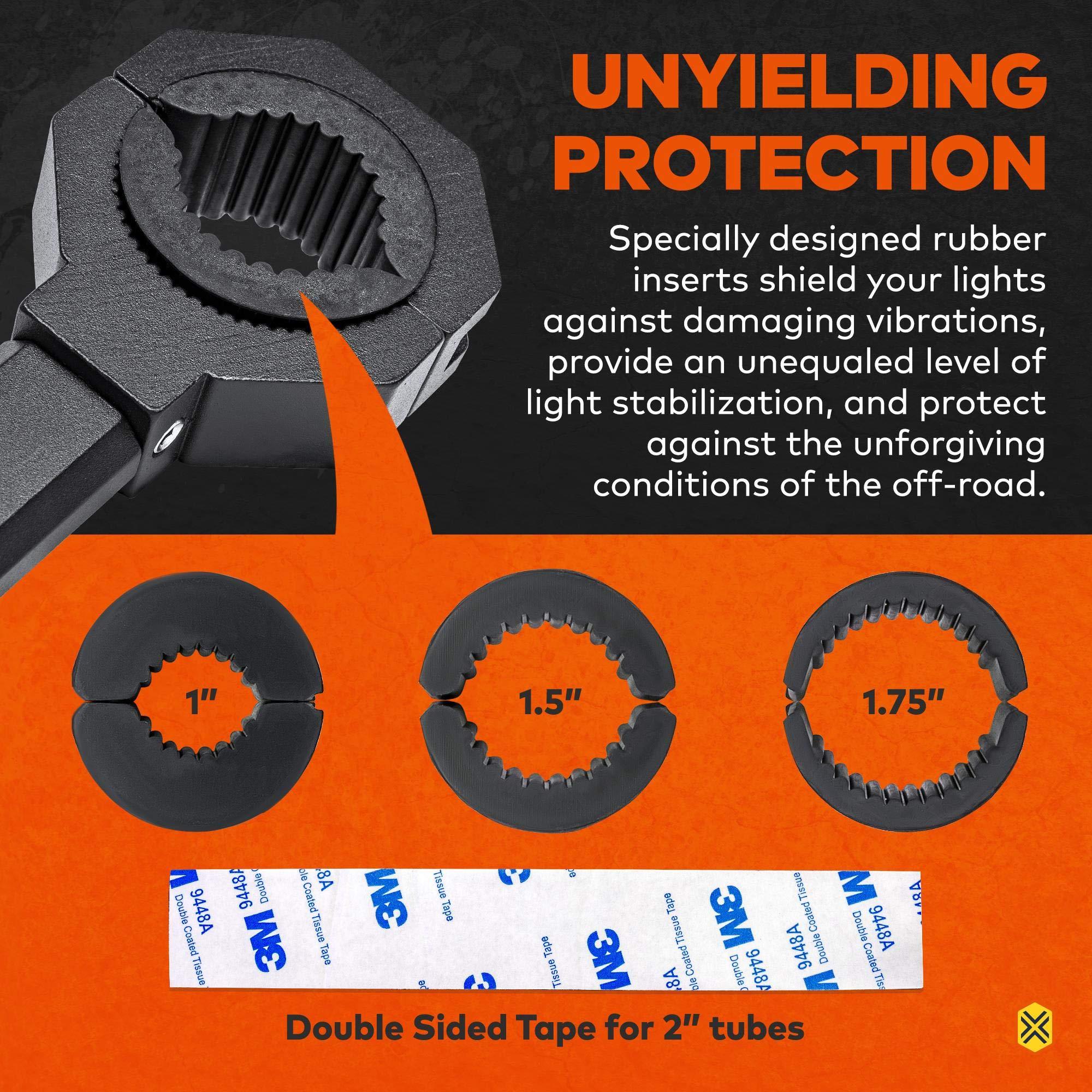 "1/""//1.5/""//1.75/"" Off-Road ATV UTV Light Bar Mounts Mounting Bracket Bar Clamp Kits"