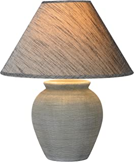 Lucide Ramzi de mesa lámpara de gris, cerámica, E27, 60W, Grey, 34x 34x 42cm